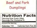beef & pork dumplings